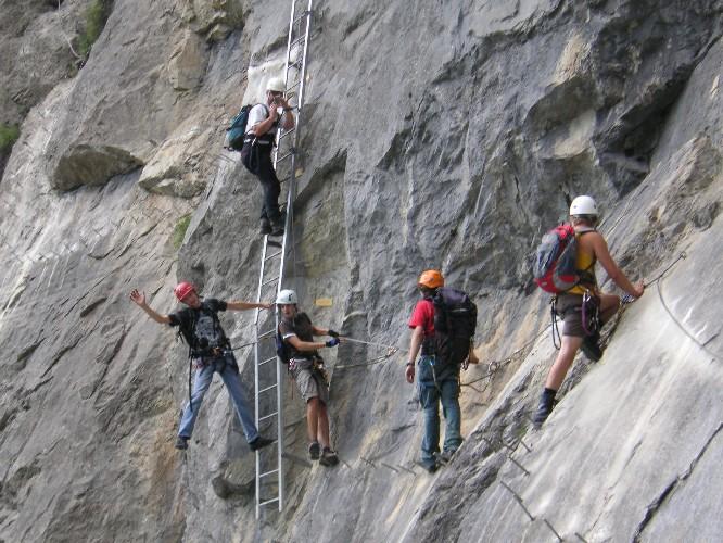 Klettersteig Daubenhorn : Tourenbericht: klettersteig daubenhorn jo sac angenstein